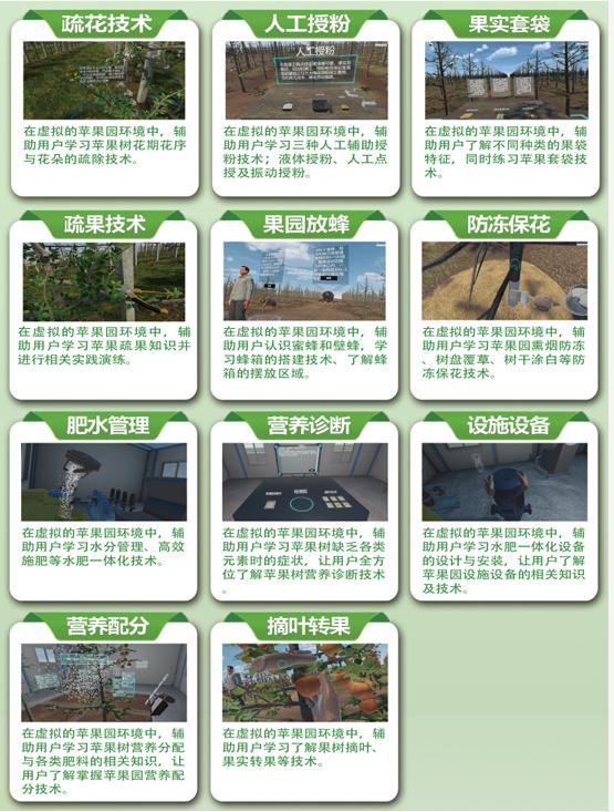 VR技术为果农提供苹果种植管理技术知识